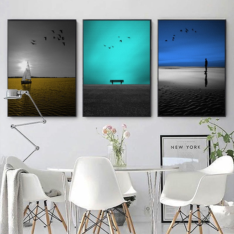 Minimalist Colorful Seaside