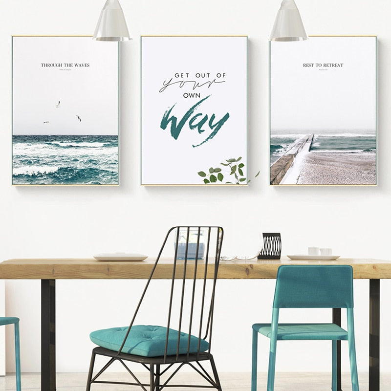 Nordic Seaside Quote Art