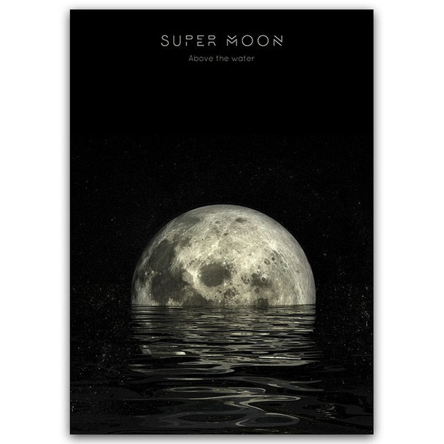 Modern Moon Canvas