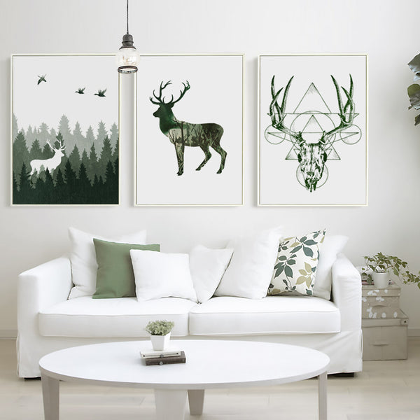 Minimalist Forest Deer