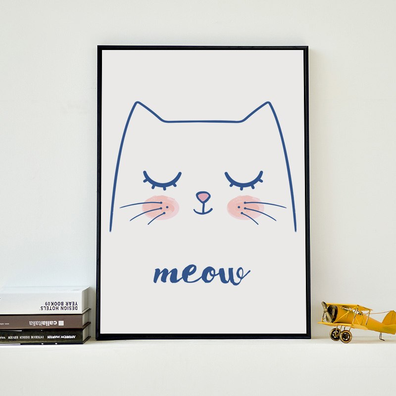 Minimalist Cartoon Cat