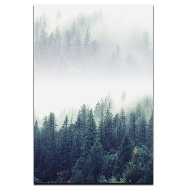 Nordic Foggy Forest