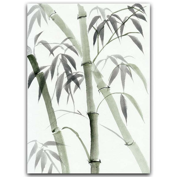 Minimalist Bamboo Leaves