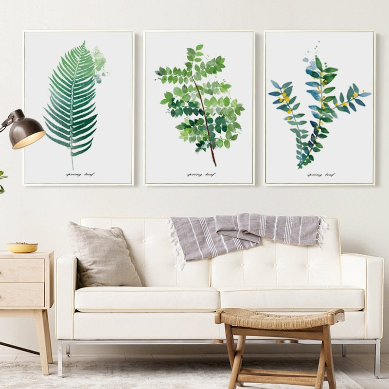 Minimalist Watercolor Leaves