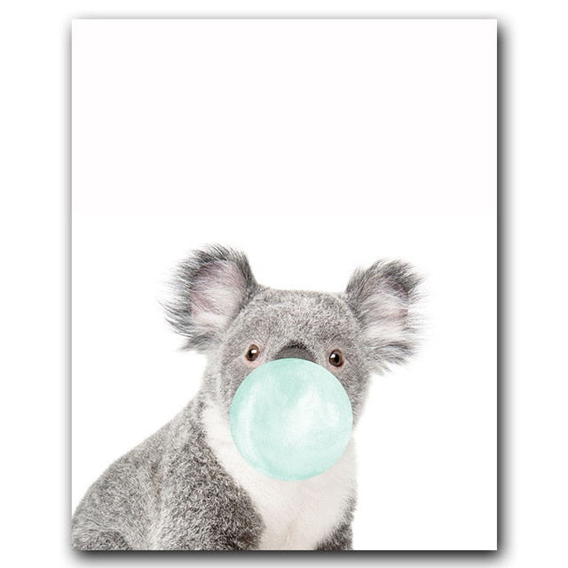 Blue Bubblegum Animals