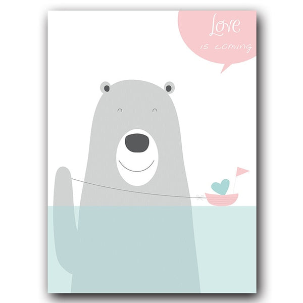 Blue Love Bear