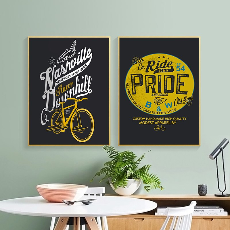 Retro Motorcycle Art