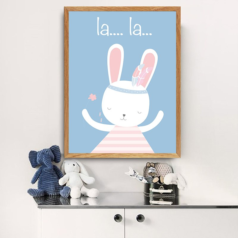 Blue Cartoon Bunny