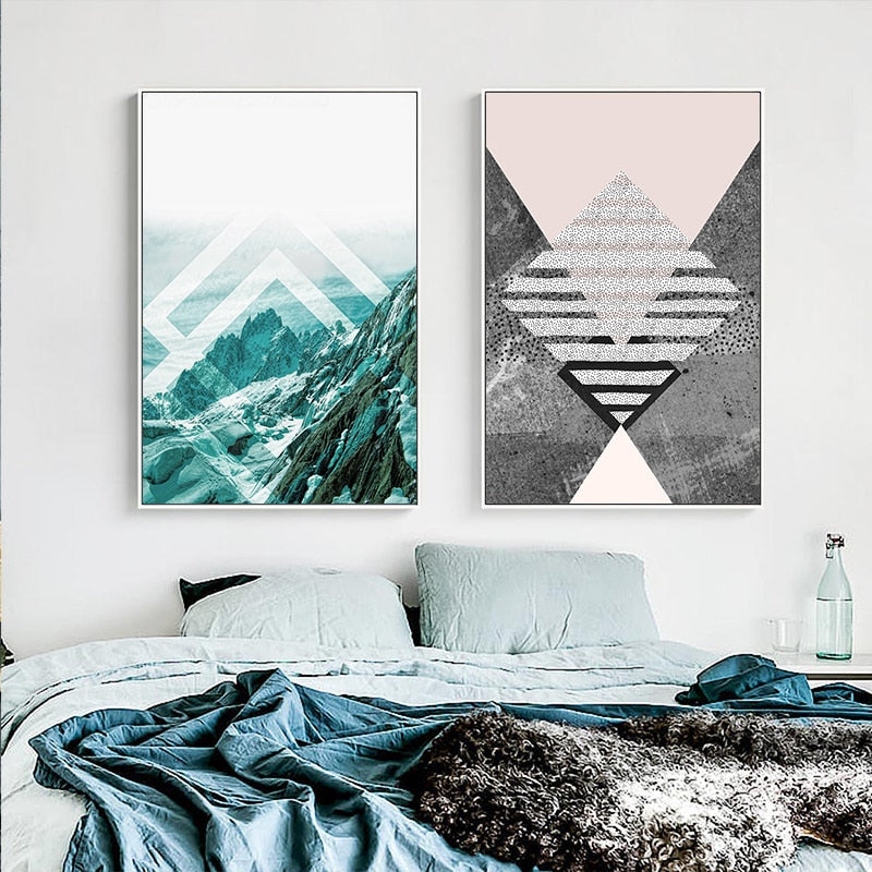 Minimalist Abstract Mountain