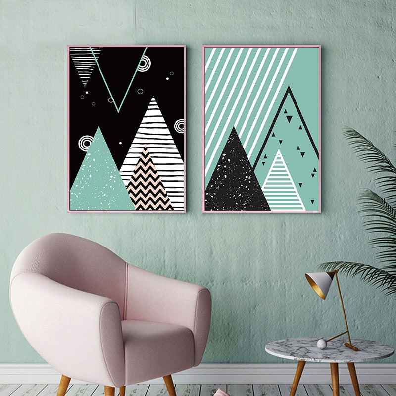 Nordic Geometric Canvas