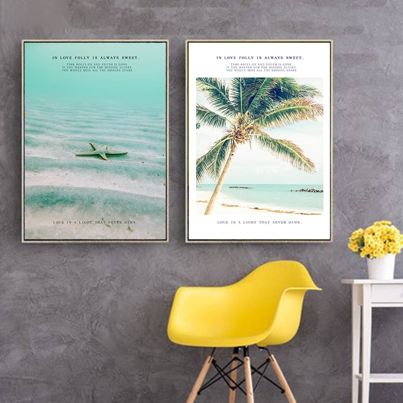 Tropical Beach Canvas