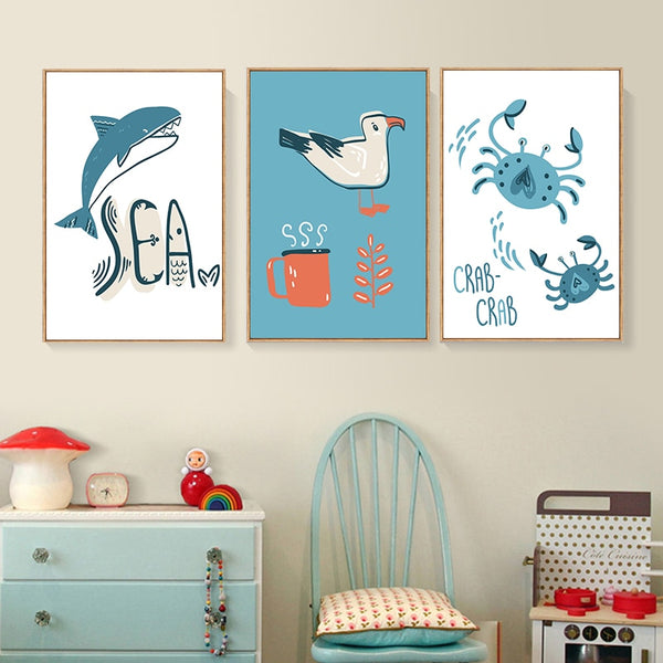 Sea Animals Canvas