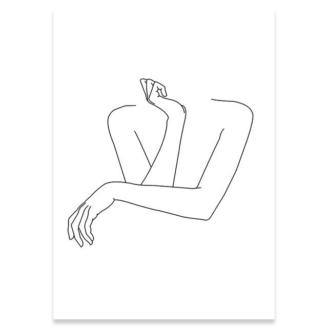 Minimalist Female Line Art