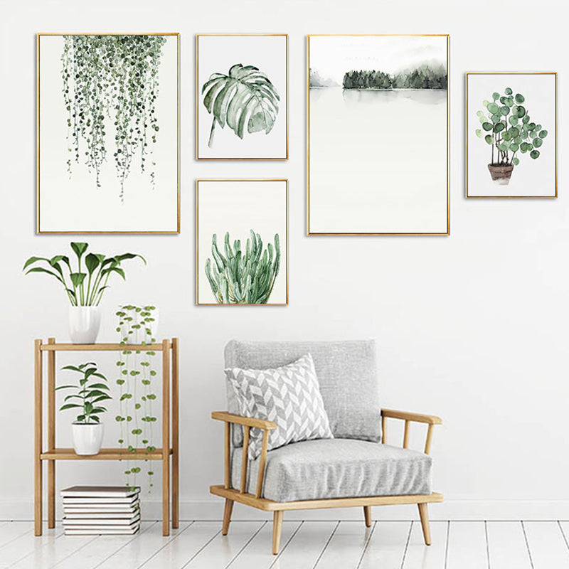 Green Watercolor Art Collection