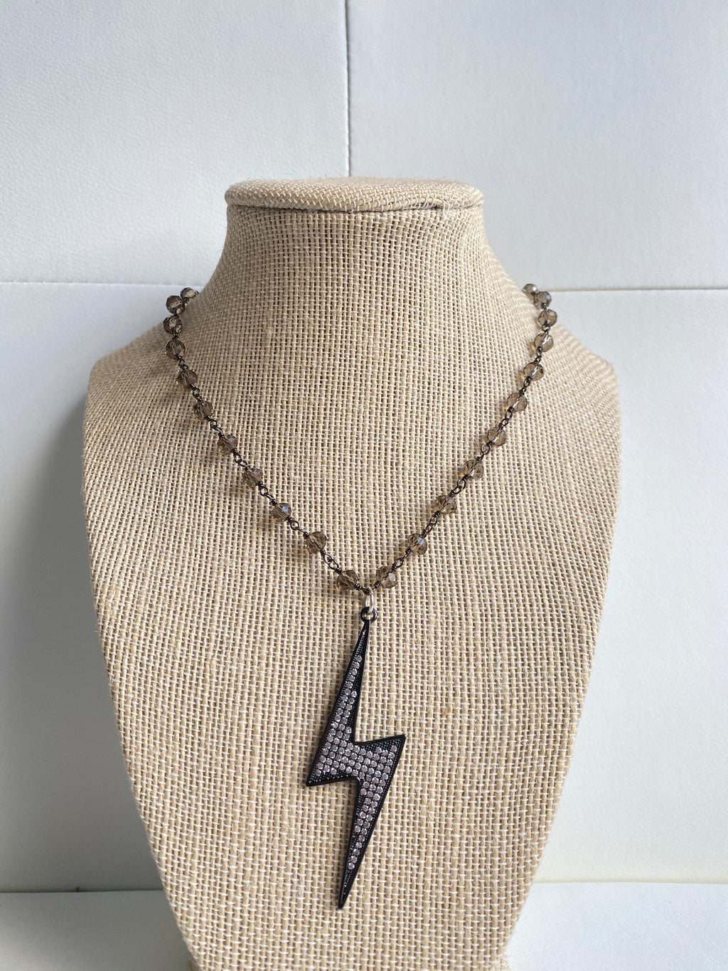 Gun metal lightning bolt
