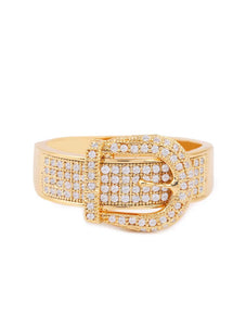 Diamond belt ring