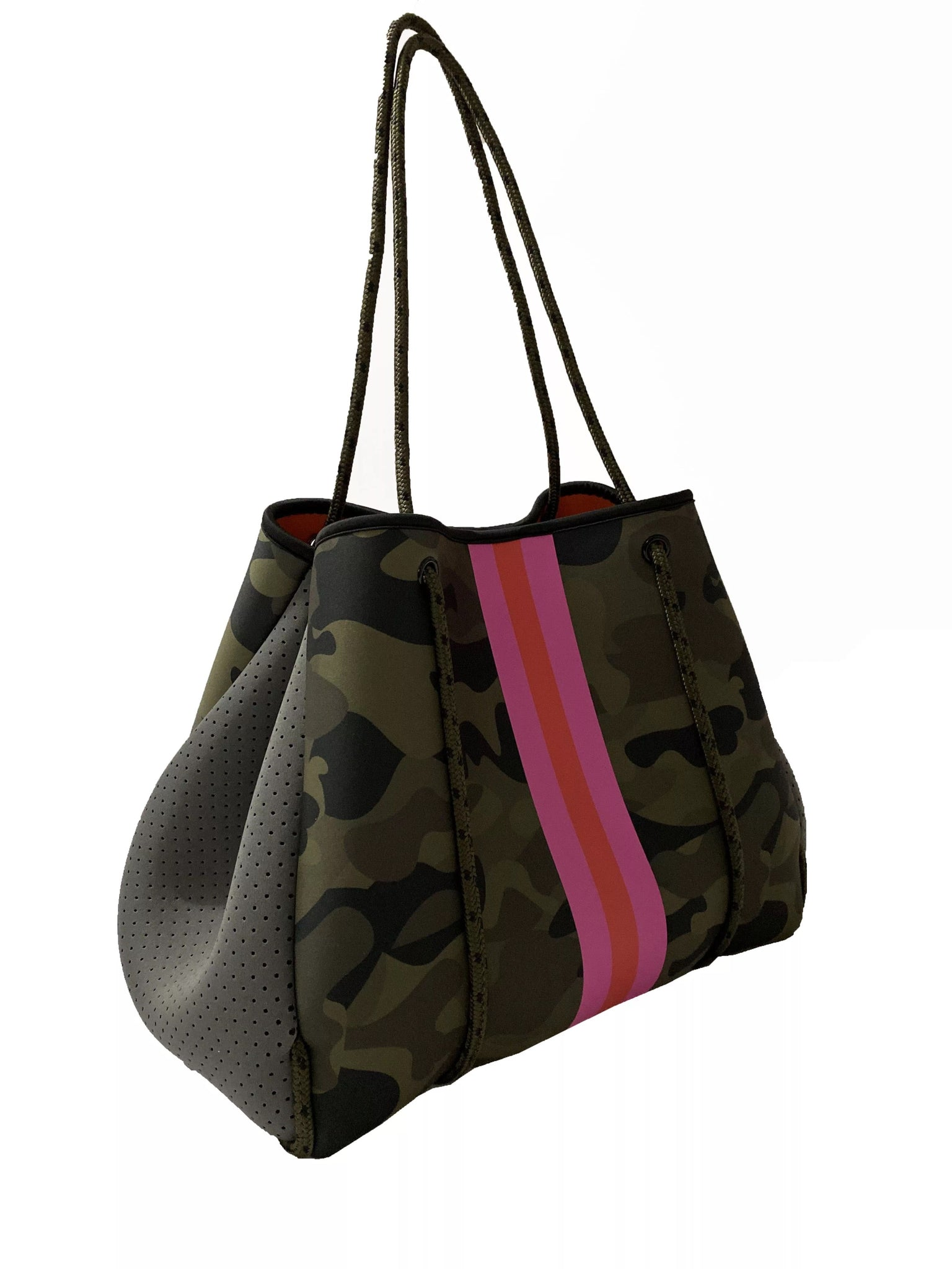 Camo pink stripe bag