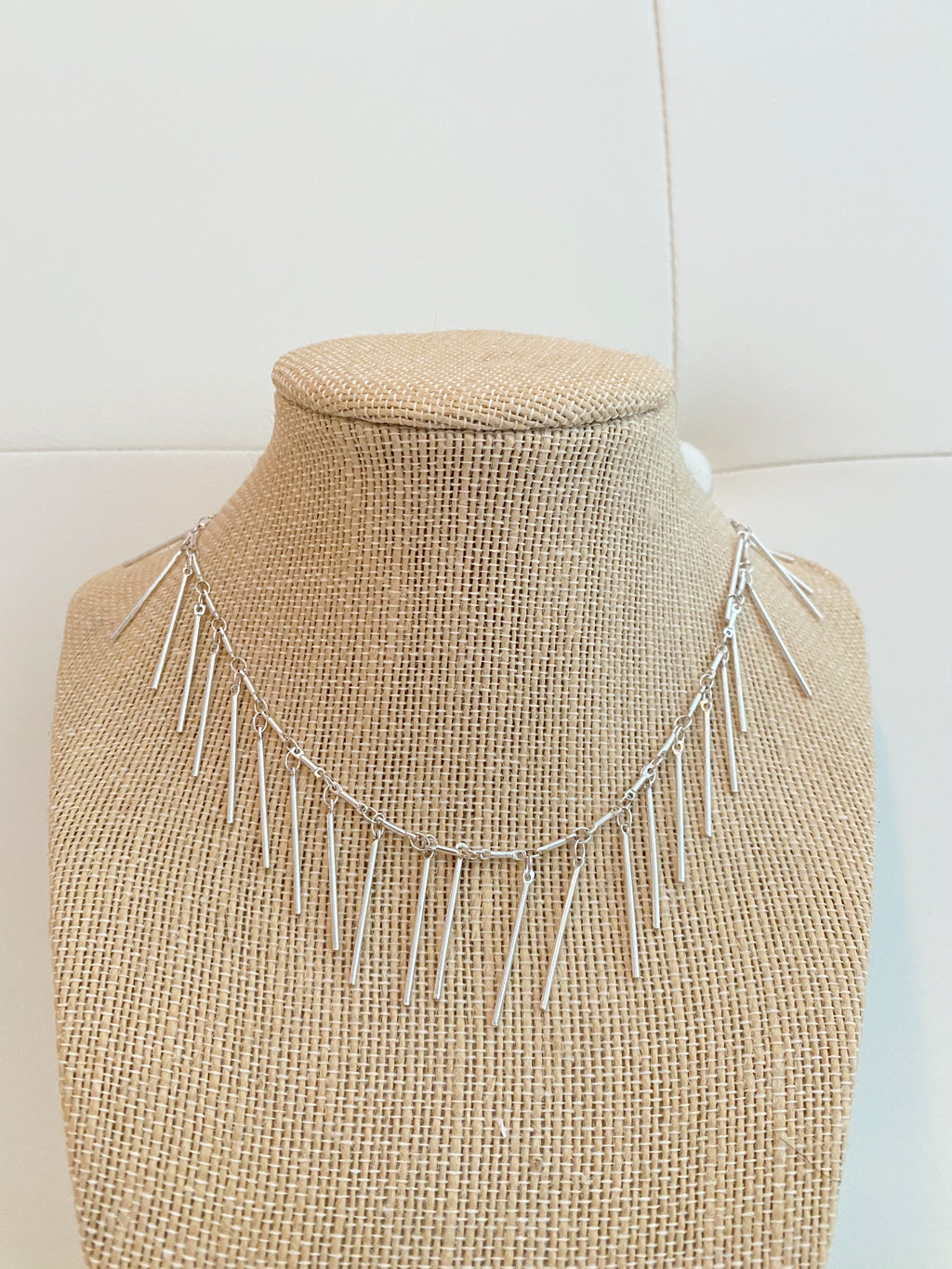 Silver ISA necklace