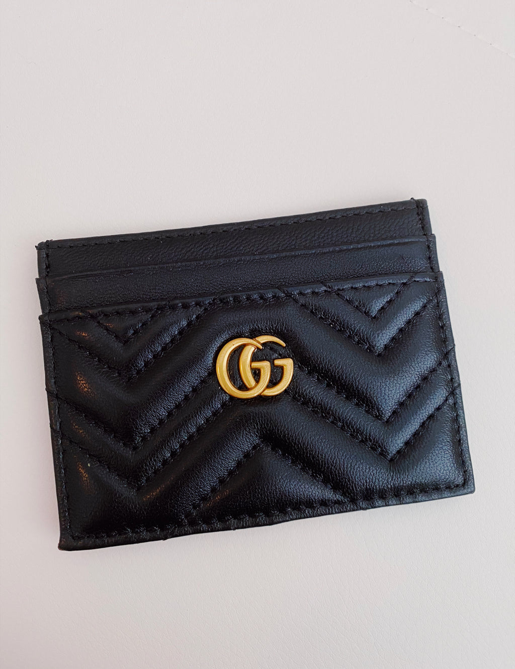 Black GG card holder