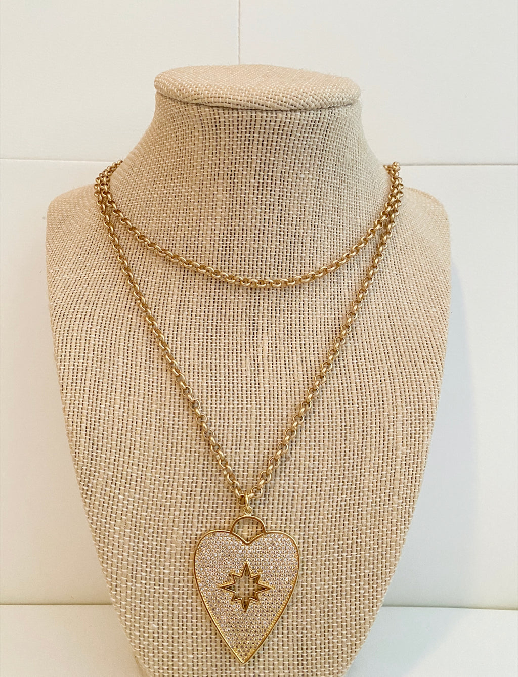 Starburst heart necklace