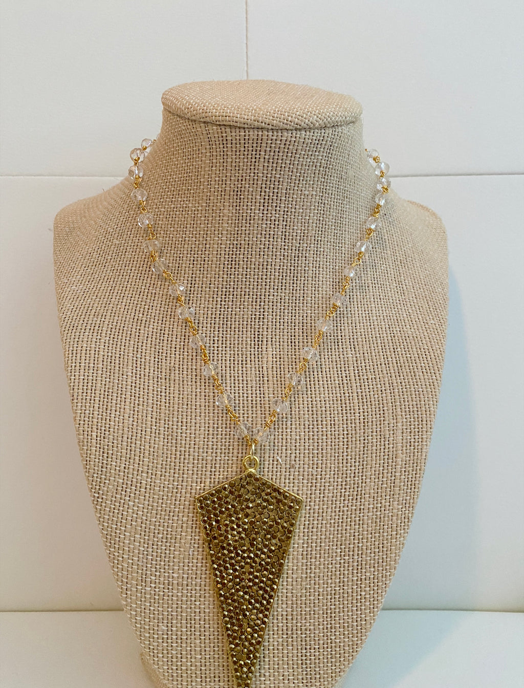 Pave arrow head necklace