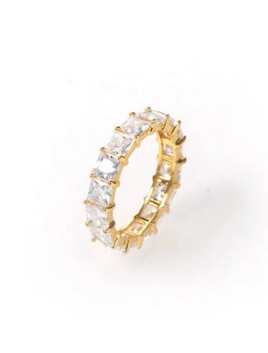 Gold eternity ring