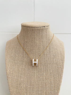 White H necklace