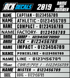 Full Custom Number Plate Kit