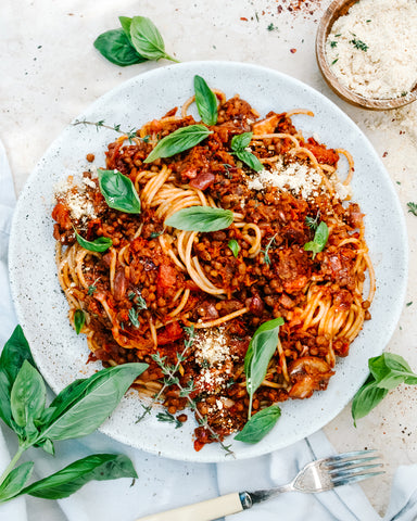 Red Wine Lentil Bolognese