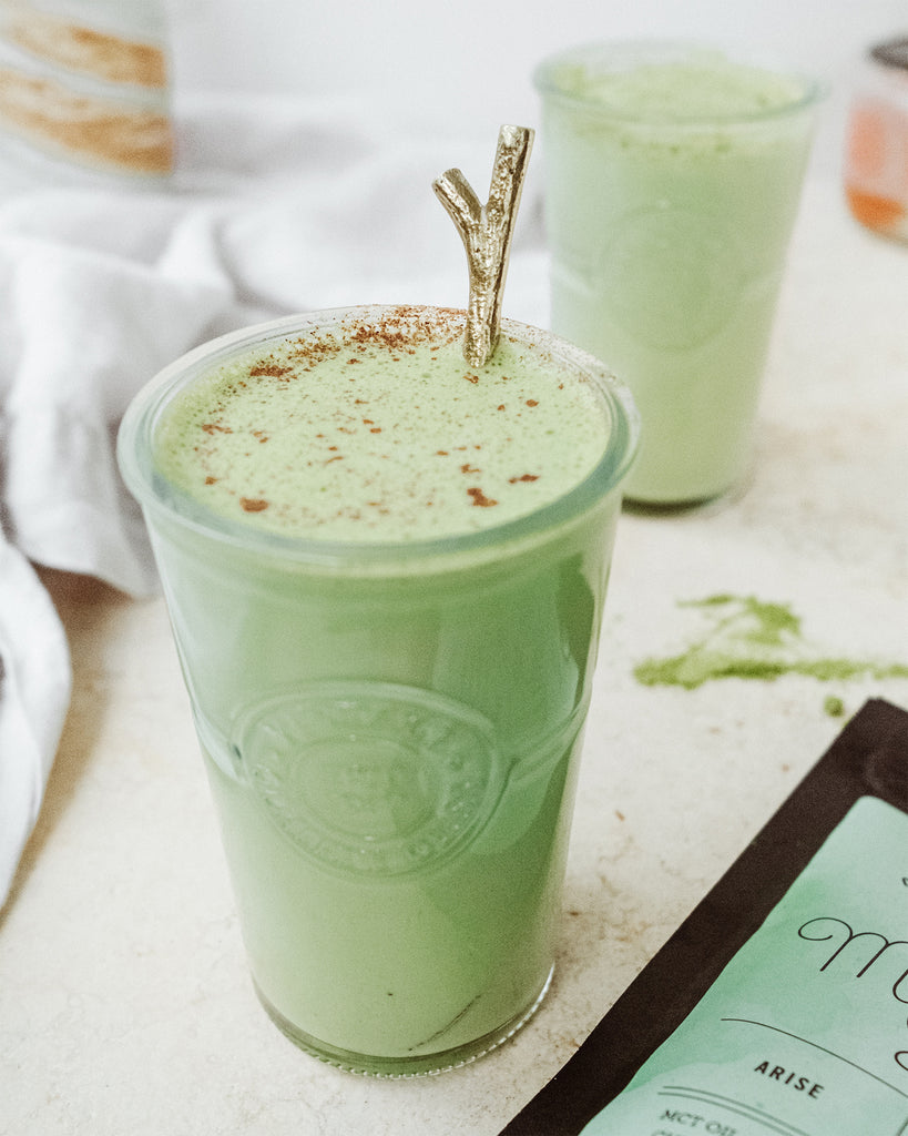 Hot Matcha Coconut Horchata