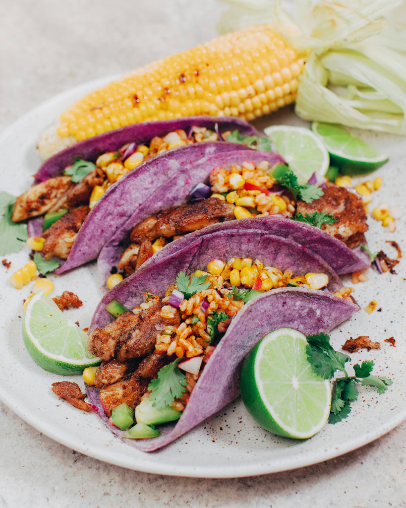 Chicken & Street Corn Tacos