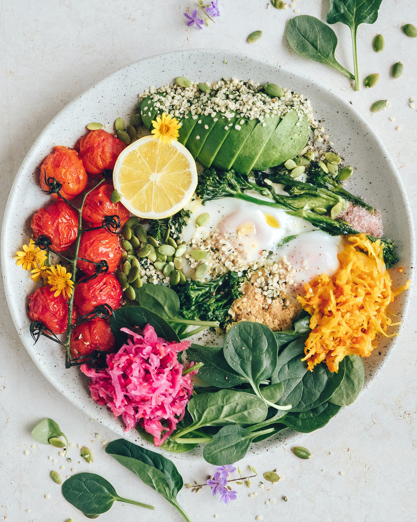 Rainbow breakfast bowl