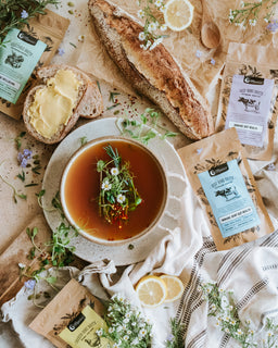 broth range flat lay