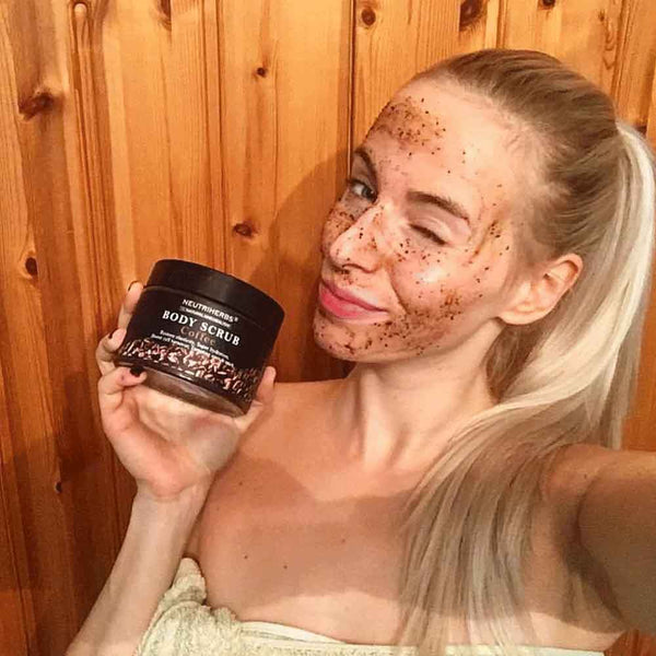 coffee ground body scrub-cellulite scrub-amarrie cosmetics
