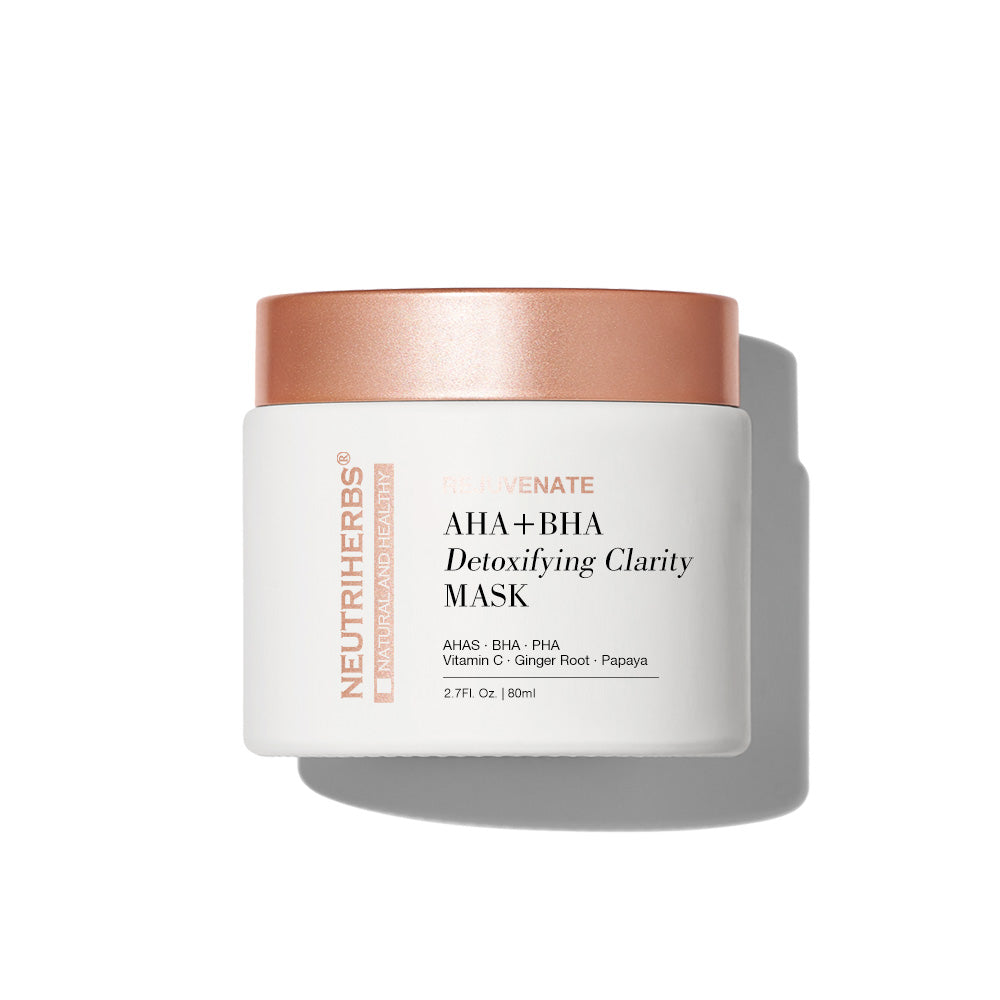 Neutriherbs AHA+ BHA Detoxifying clarity mask, best exfoliator for blackheads, whiteheads, and acne