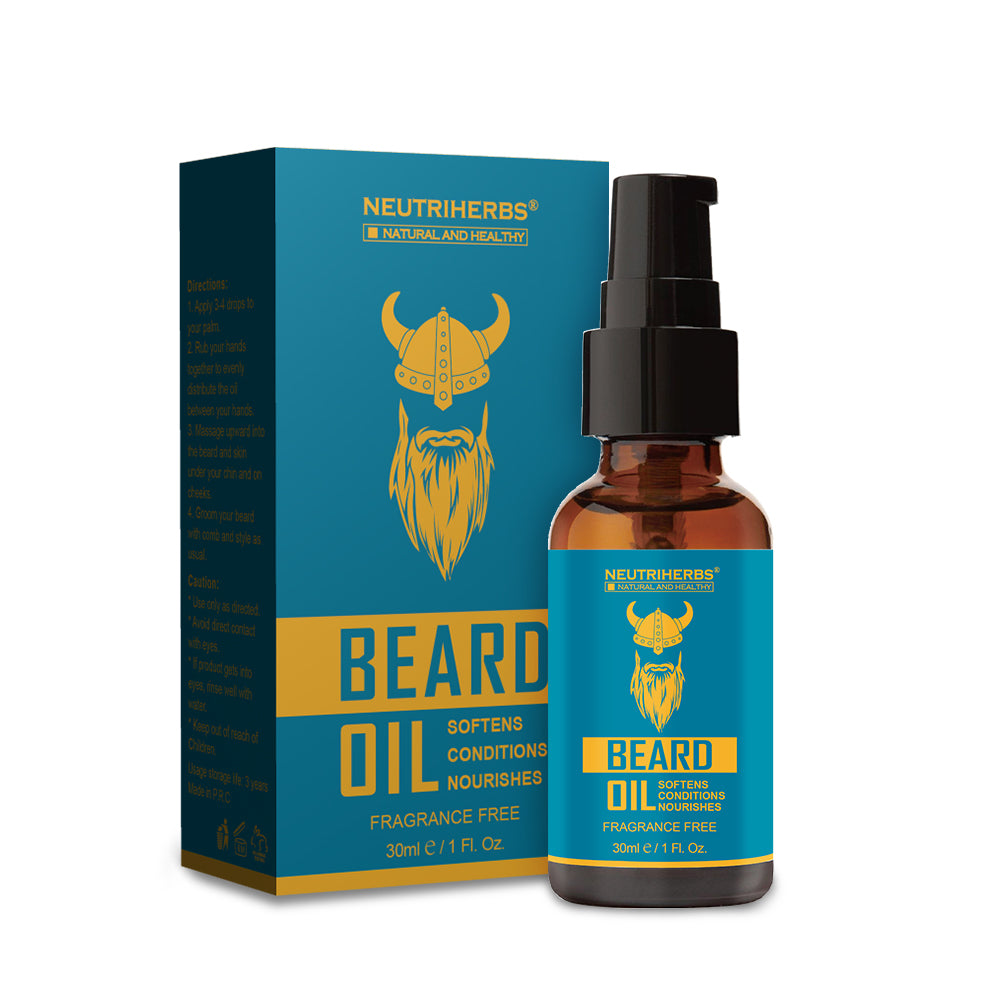 100% Natural Beard Oil for Beard Groomed - amarrie cosmetics
