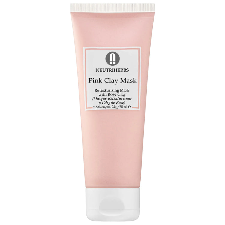 Rose Pink Clay Mud Face Mask For Dull Skin - amarrie cosmetics