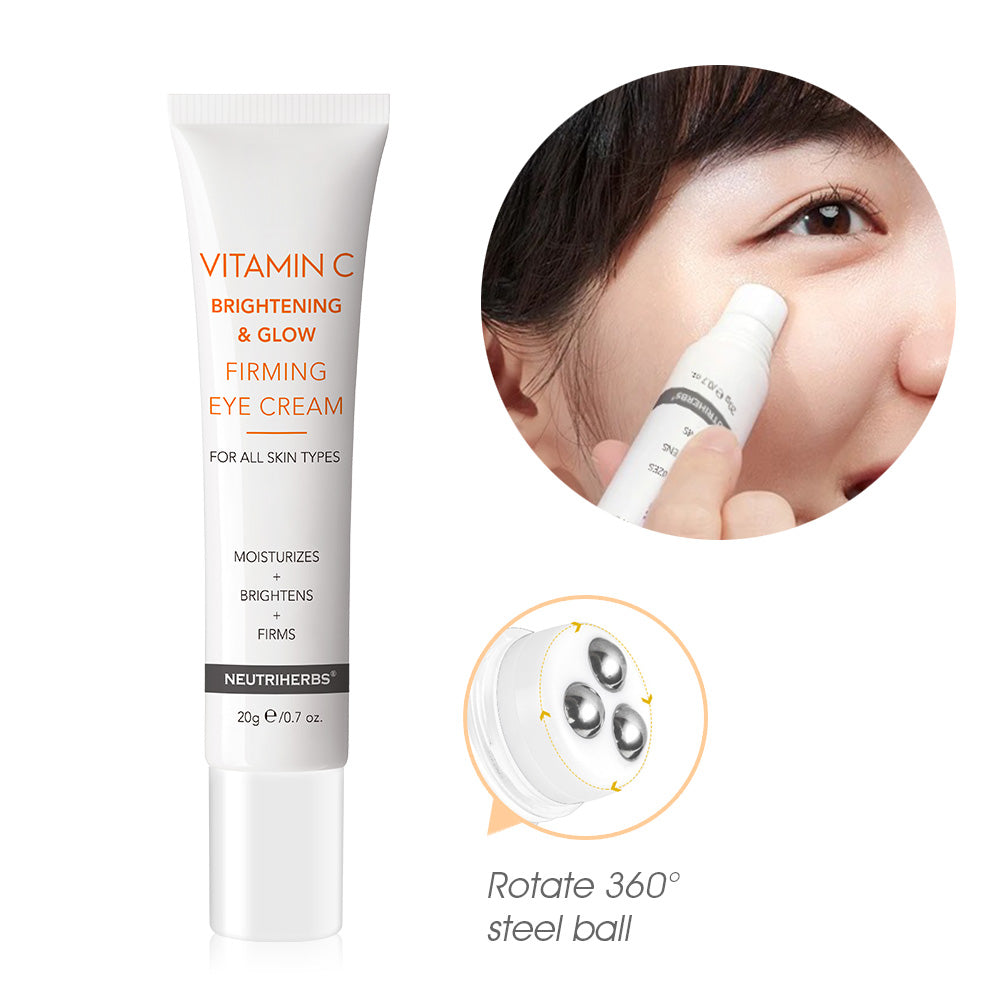Vitamin C  Brightening & Glow Firming Eye Cream | Relaxes the eye skin, improve the puffy and eye bags while improving concealer application and wear