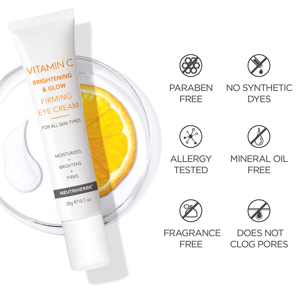 Neutriherbs Vitamin C Brightening & Glow Firming | improve elasticity and diminish dark circles and puffiness