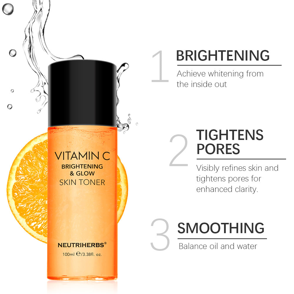 Neutriherbs Brightening and Glow Vitamin C Toner | Reduce the appearance of brown spots and reduce other damage caused by the sun