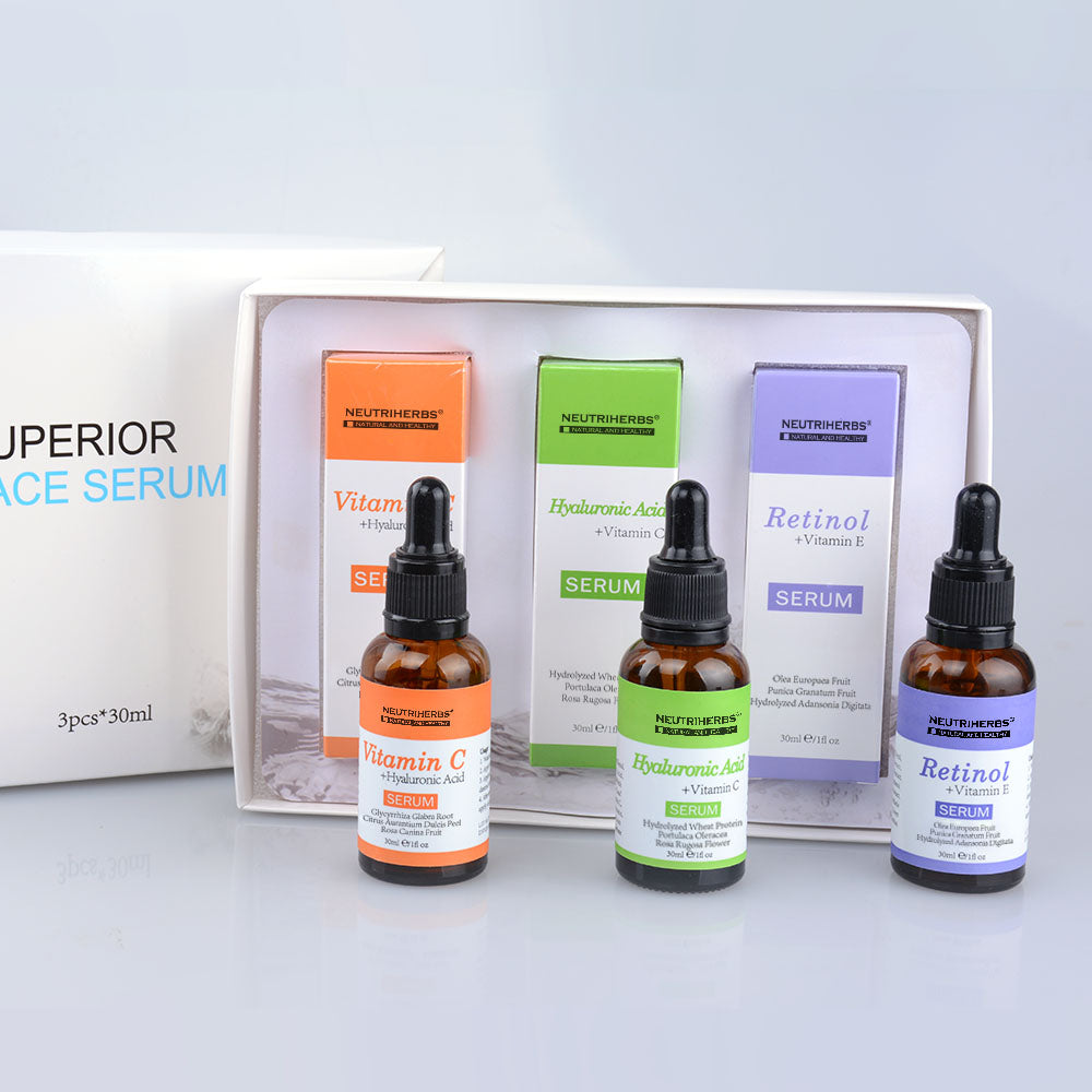 Face Serum Kit-Vitamin C Serum-Retinol Serum-Hyaluronic Acid Serum - amarrie cosmetics