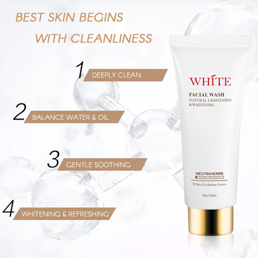 Whitening Face Wash – foaming facial cleanser for acne and oily skin - amarrie cosmetics