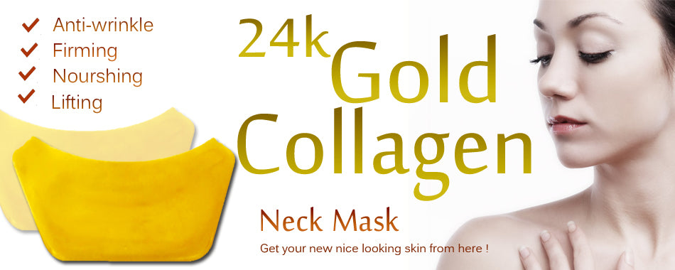24K Gold Neck Collagen Mask - amarrie cosmetics