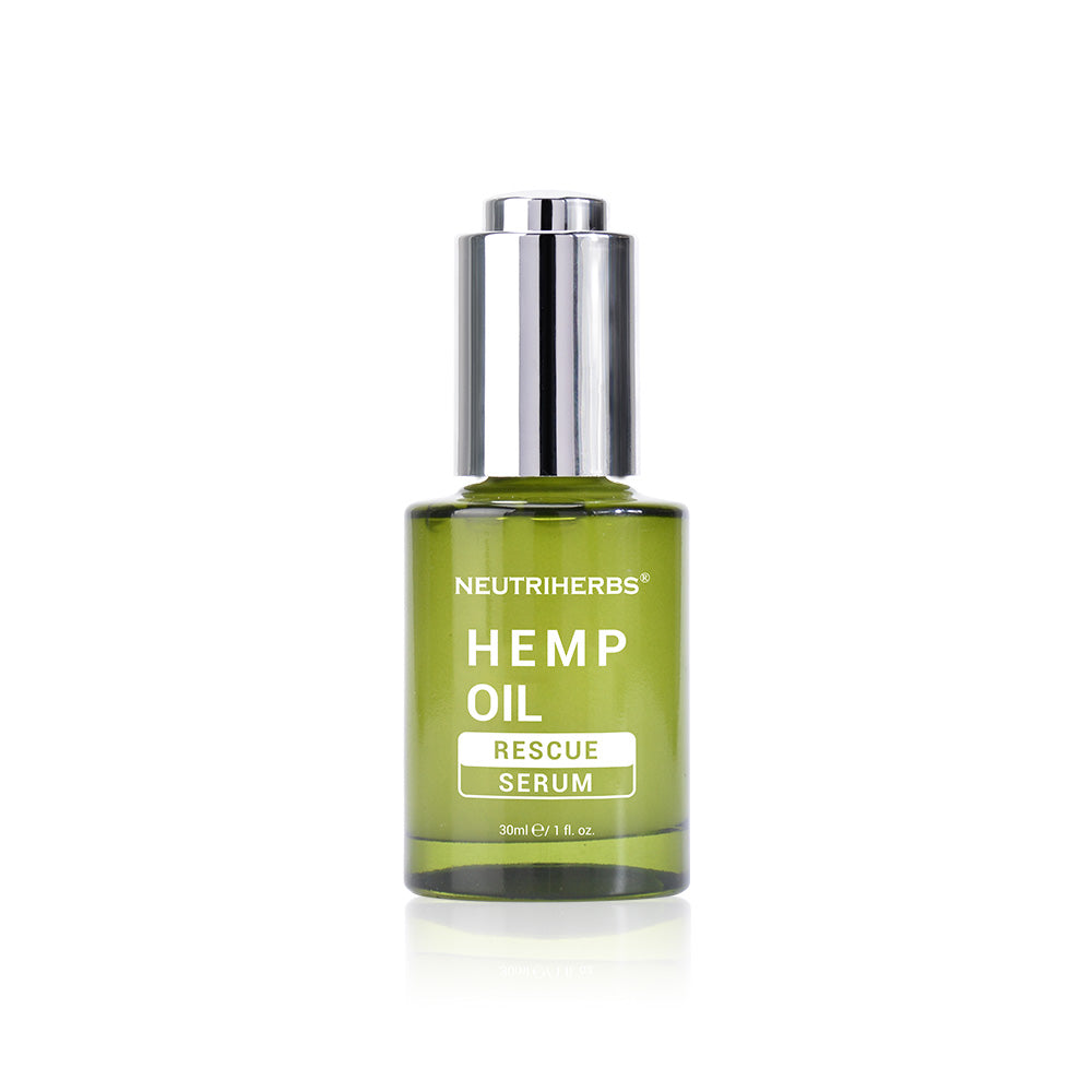 Neutriherbs Hemp oil Rescue Serum reduce the appearance of dry, tired, dehydrated, and acne-prone skin.