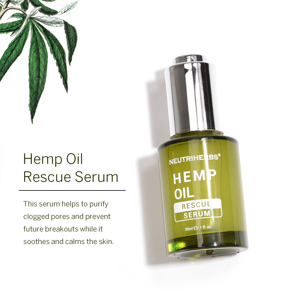 Neutriherbs Hemp Oil Rescue Serum provide private label and accept minimum quantities