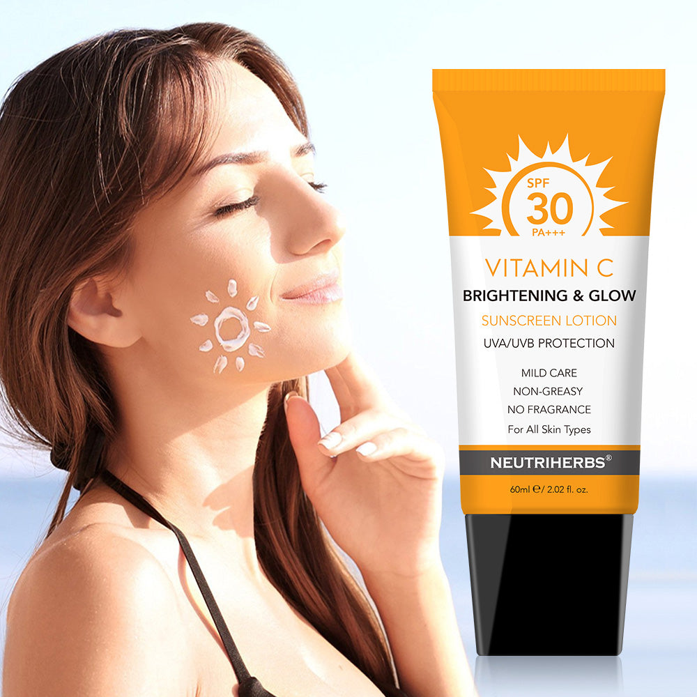 Neutriherbs Vitamin C Brightening & Glow Sunscreen Lotion SPF30