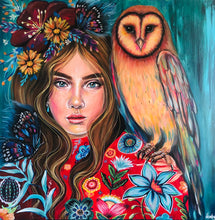 Load image into Gallery viewer, Zeta & The Sunset Owl -  Hand Signed Print