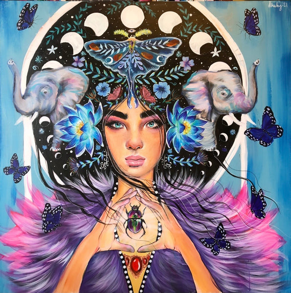 ' Anika Metamorphosis Goddess ' Hand Signed Art Print