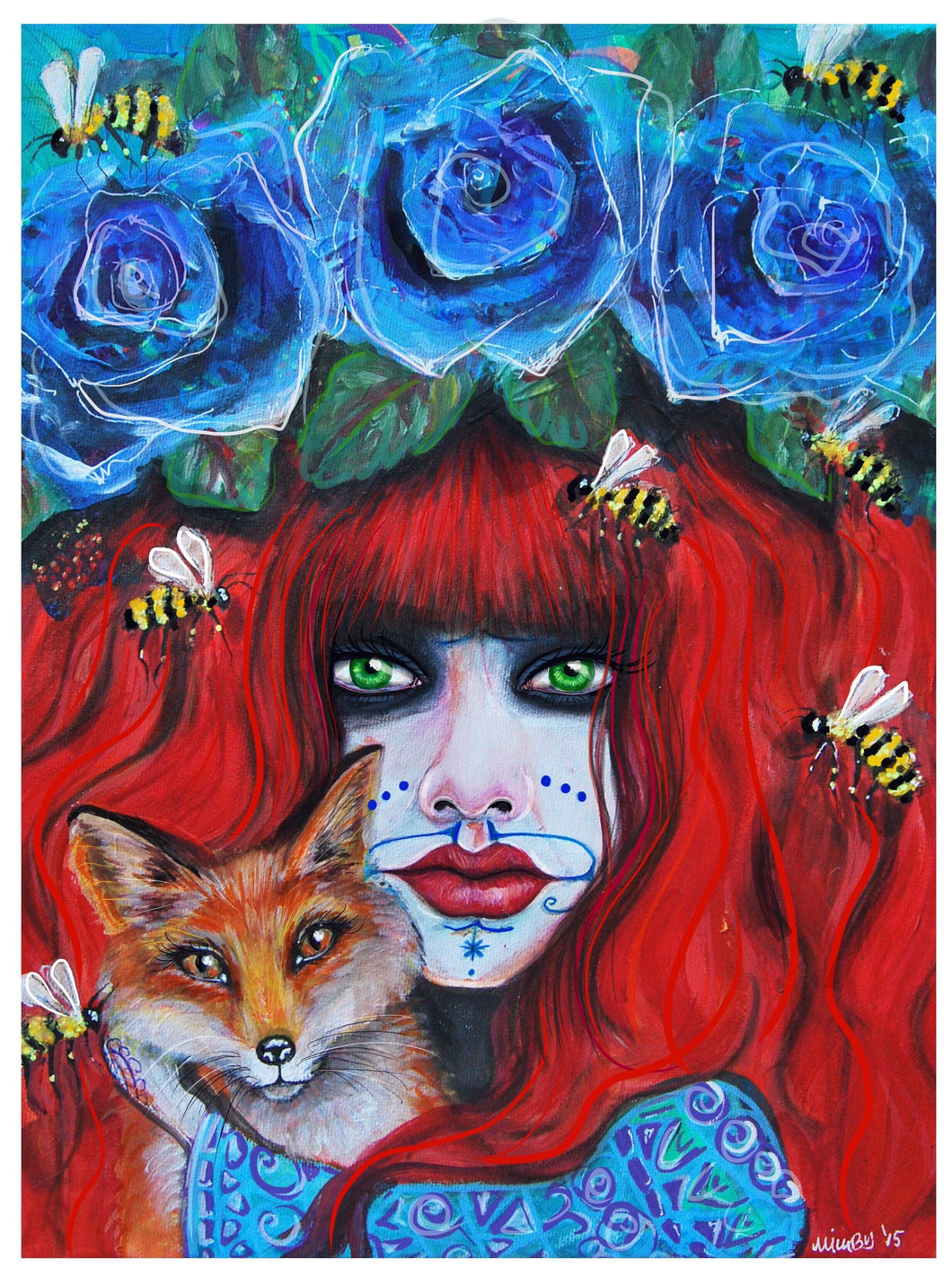 Vali & The Queen Bees -  Hand Signed Art Print