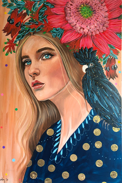 'Maggie & The Black Cockatoo ' Hand Signed Art Print